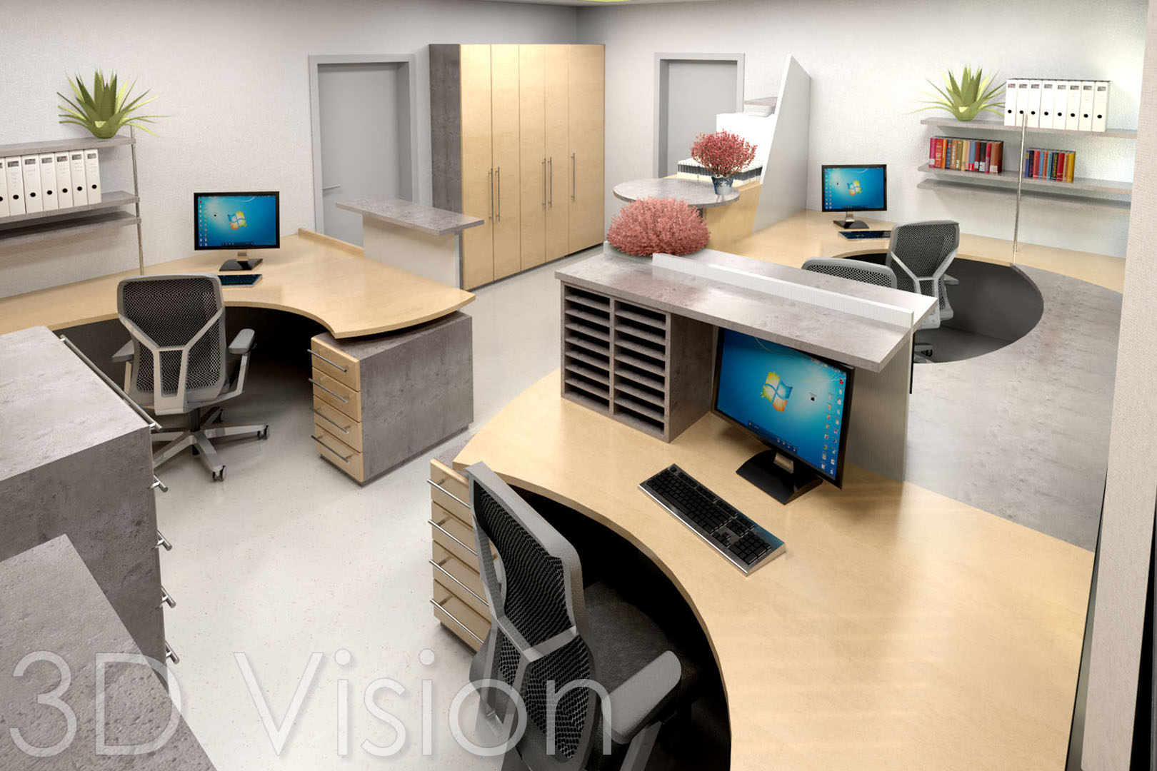 Großartig Büro Ideen Galerie Von Büro-3d
